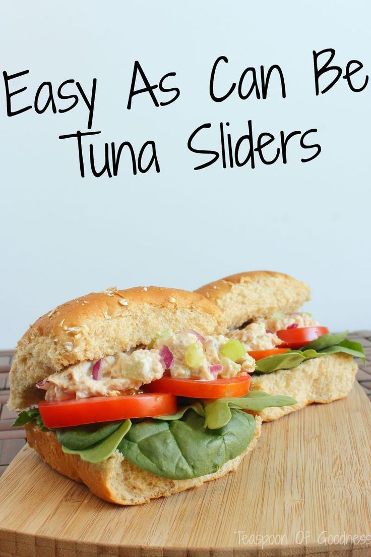 Snag this easy as can be tuna sliders recipe that is packed with fresh veggies for lunch or a light dinner.