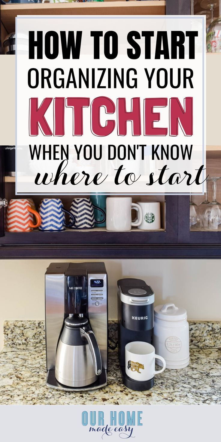 My Favorite Free Trick for Decluttering Cabinets & Kitchen Organization - Kitchen design open, Kitchen organization, Kitchen hacks diy, Kitchen renovation, Cool kitchens, Kitchen remodel - My favorite free trick for decluttering cabinets & kitchen organization! It is the best way just to start organizing when you feel overwhelmed!