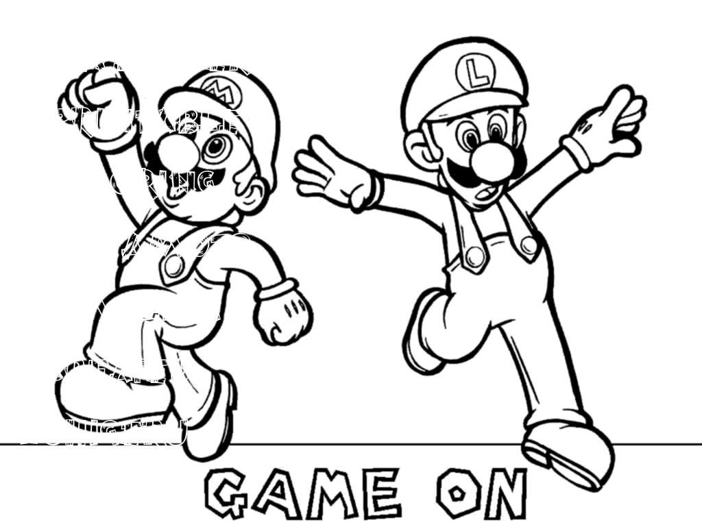 Mario Group Coloring Pages Printable