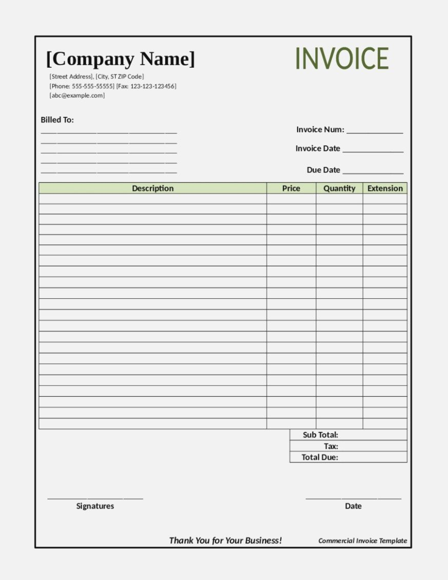 The Excellent Blank Invoice Sample Pdf Fillable Service Free Receipt Pertaining To Free Printable Invo Printable Invoice Invoice Template Invoice Template Word