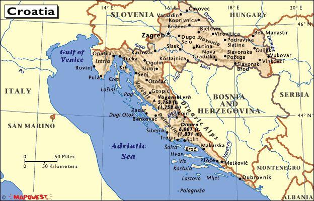 Croacia Croatia Map Croatia Political Geography