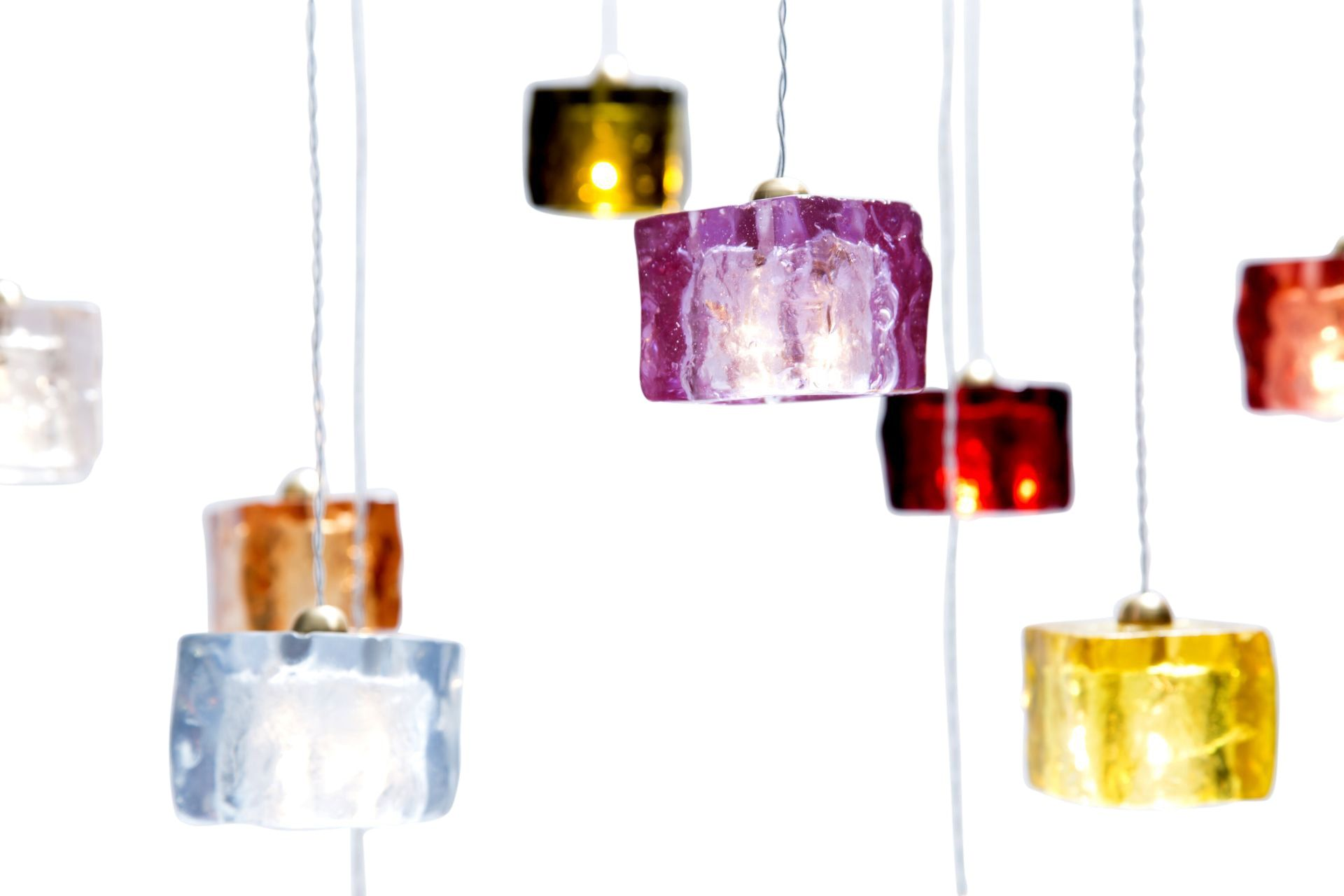 Cubes ceiling pendant lighting industrial midcentury modern