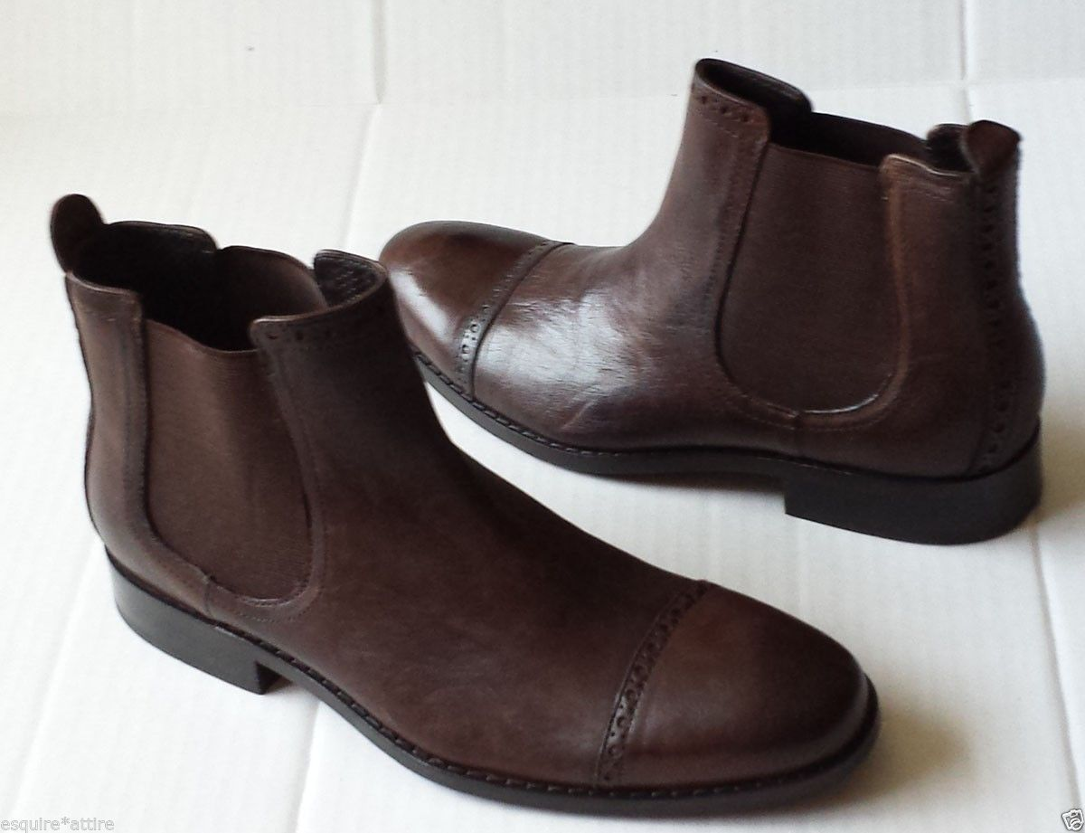 COLE HAAN men size 8 M brown #leather ankle boots NIKE Air Made in India