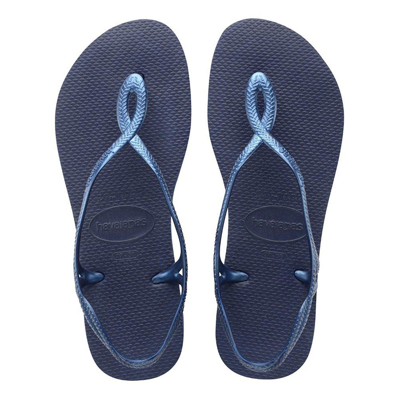 Havaianas Brazil Women`s Flip Flops Sexy Luna Sandal Navy Blue ALL Size **