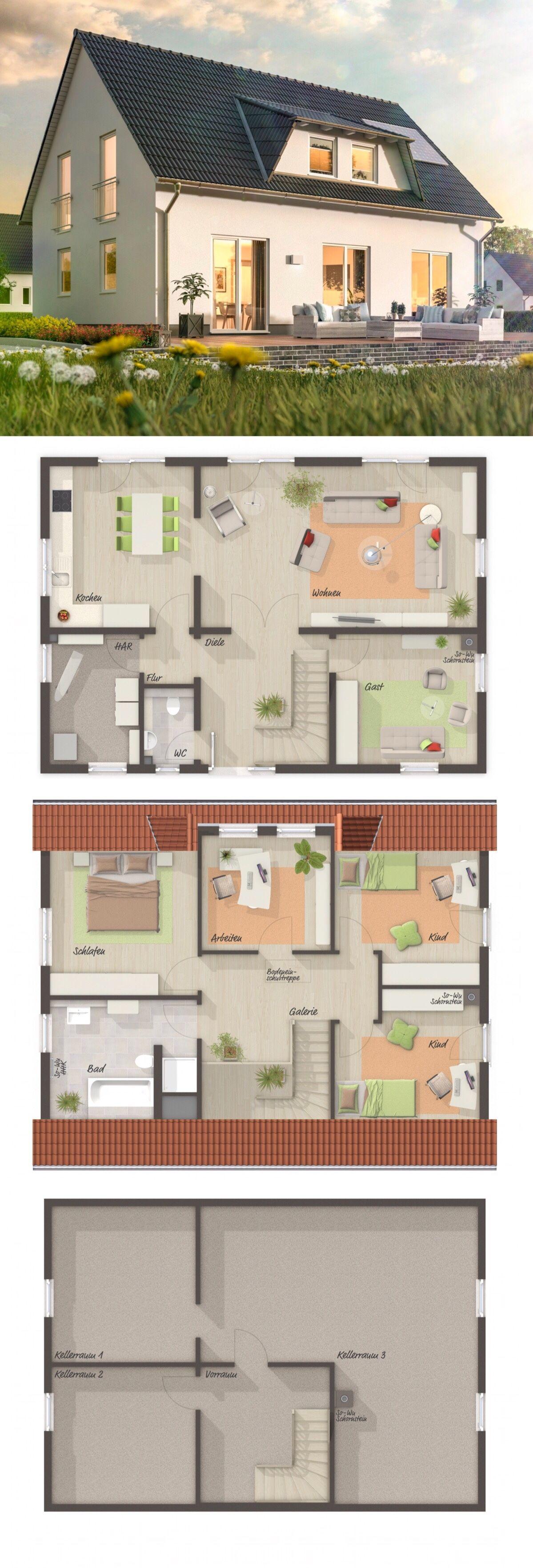 Einfamilienhaus LANDHAUS 142 mit Satteldach