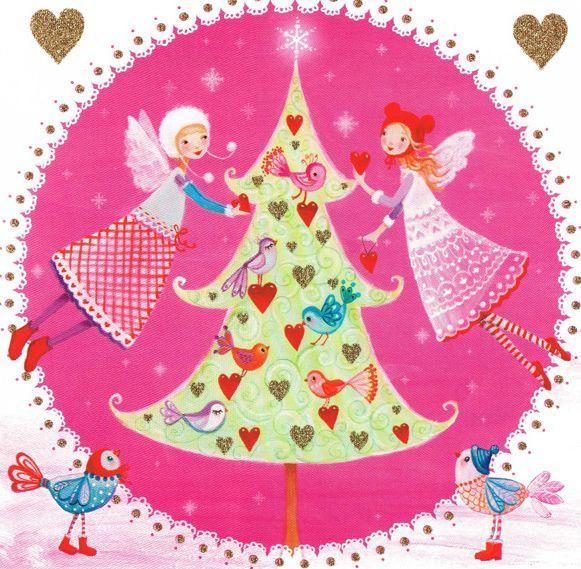 Mila Marquis decorating Christmas tree