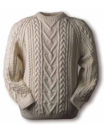 Byrne clan Aran, hand knit 100% pure new wool, natural color | Byrne ...