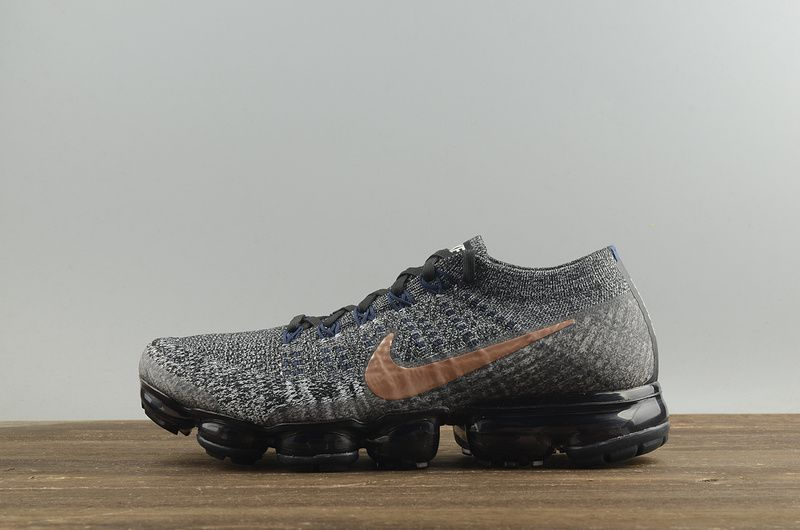 5ae8c6607ad4 Nike Air VaporMax Flyknit Black Metallic Red Bronze College Navy 2018  Running Shoes Sneakers 849558-010