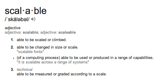 Can you scale up?