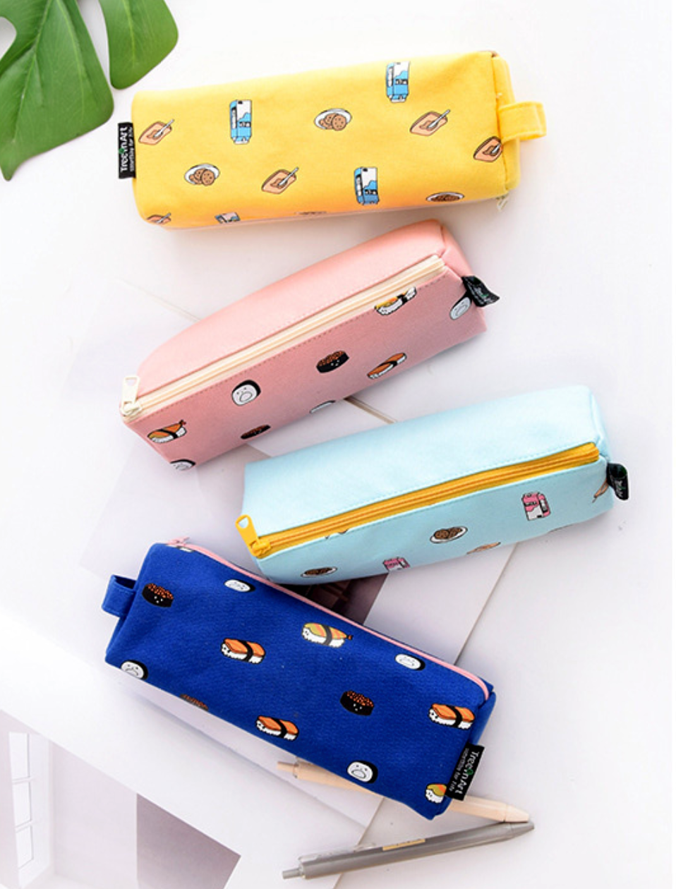 Fresh Sweet Color Love Heart Cute Pen Bag Student Stationery Pencil Case IT