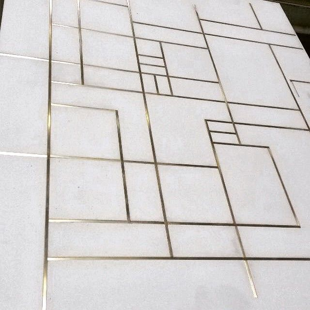 Moncxiii On Instagram Concrete Floor With Brass Inlay How Fab Flooring Floor Design Concrete Floors