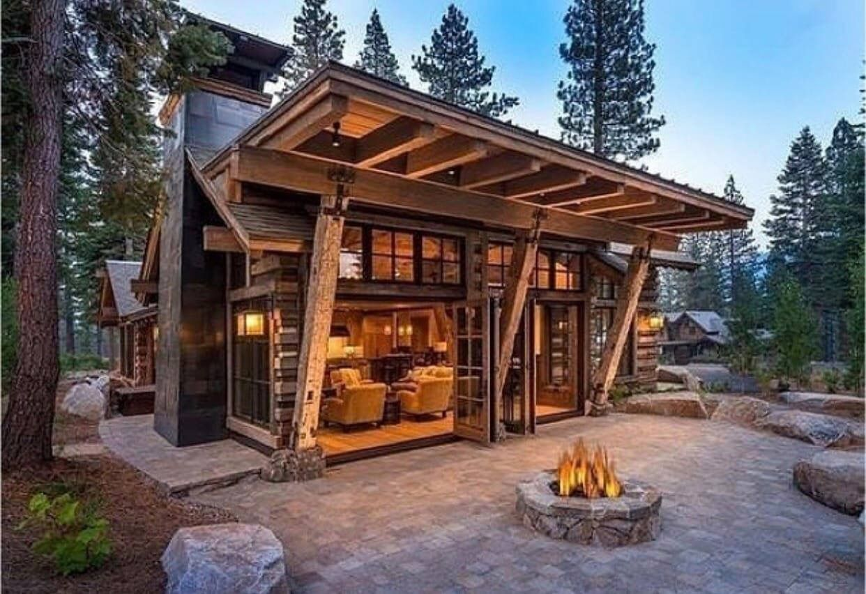 Pin By Aksorn On Cool Houses Modern Cabin Rustic House Cabin Design