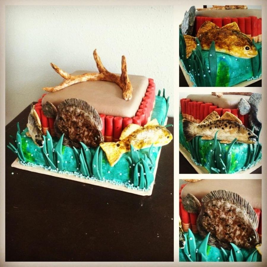 Fishing Wedding Ideas: Hunting And Fishing Grooms Cake - Google Search