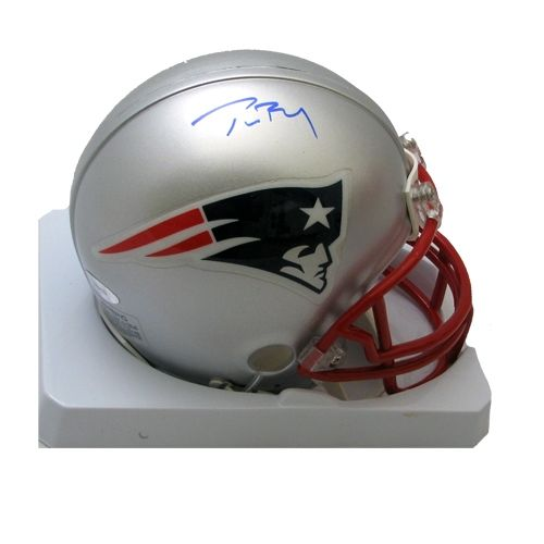 ff7bc3432 Tom Brady Signed Mini Helmet
