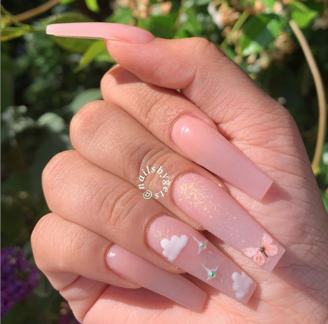 Instagram Nailsviibes In 2020 Long Acrylic Nails Best Acrylic Nails Pink Acrylic Nails