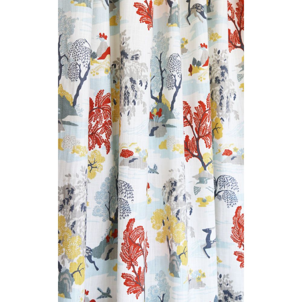 A Whimsical Toile Fabric In Such Beautiful Colours That