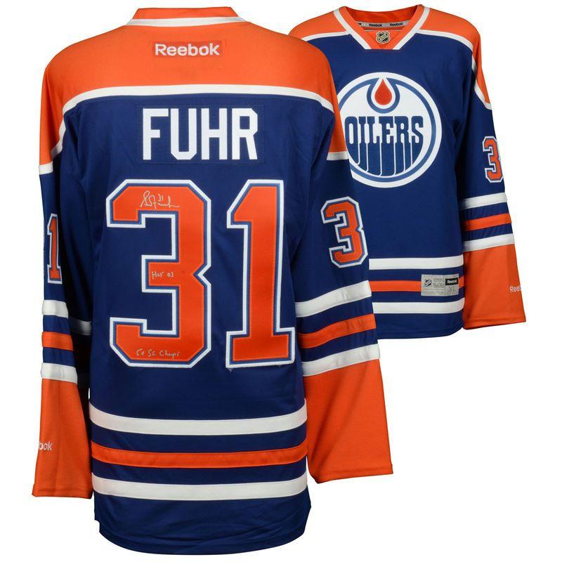 Grant Fuhr Edmonton Oilers Fanatics Authentic Autographed