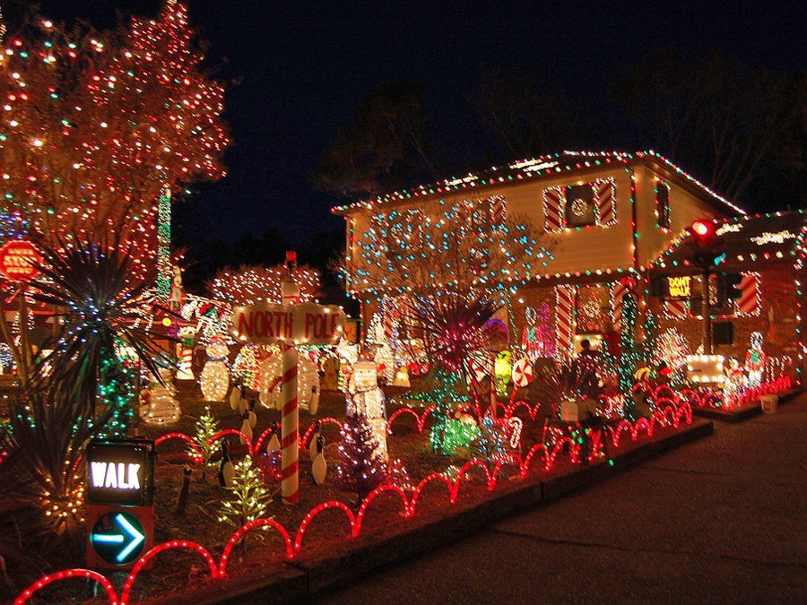 Image result for over decorated yard christmas