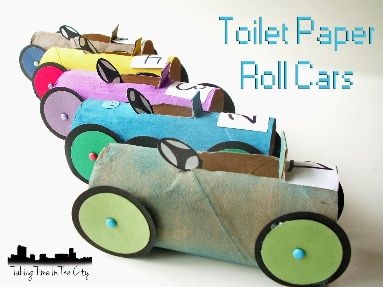 toilet paper roll cars all arts day ideas pinterest