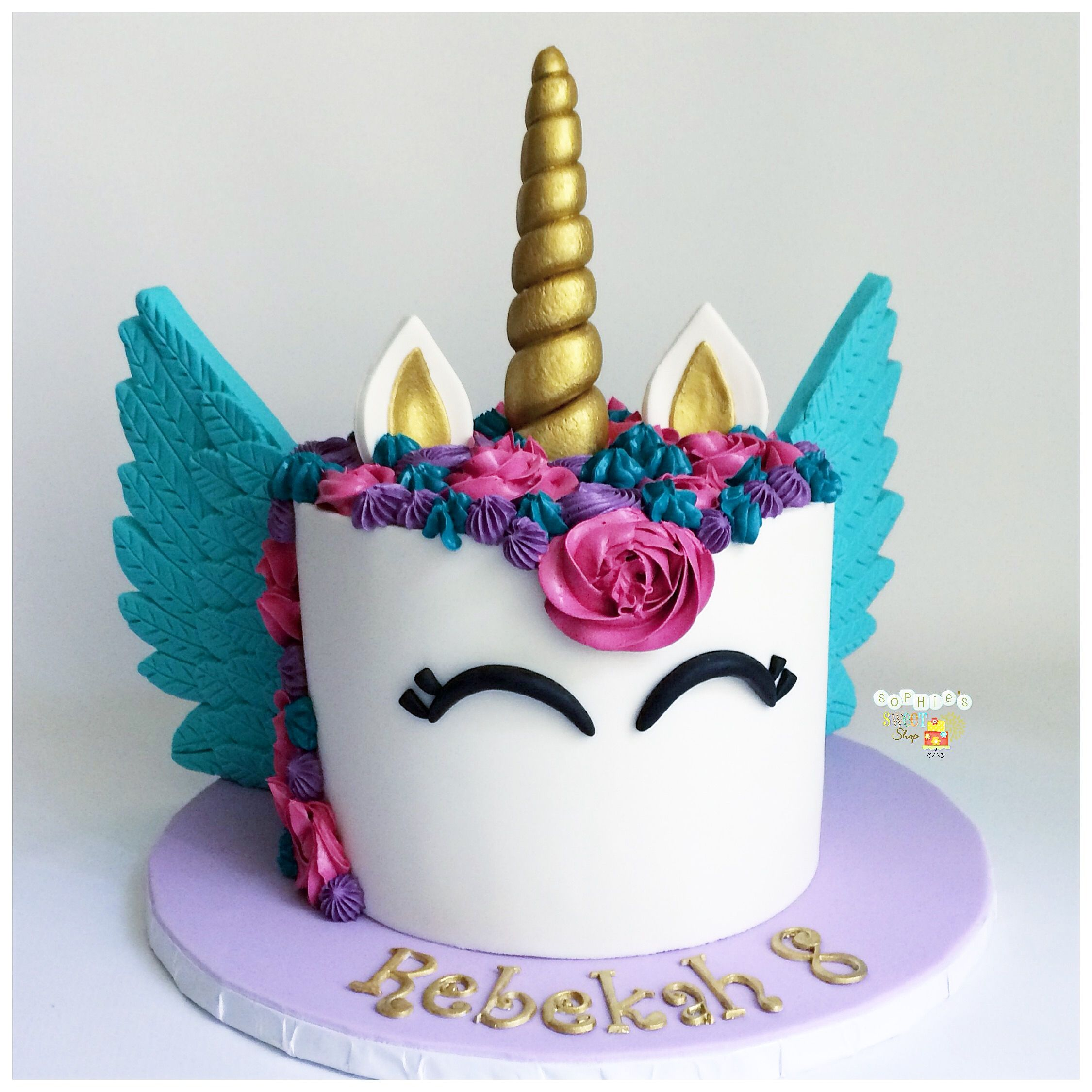 Vibrant Unicorn Cake Wings Pink Teal Purple Instagram Sophiesweetshop And In Carson California