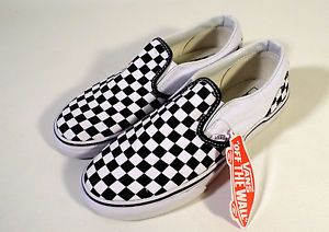Big Kids Girls or Boys Size 4 Youth VANS Classics, Checkerboard Sneakers, New