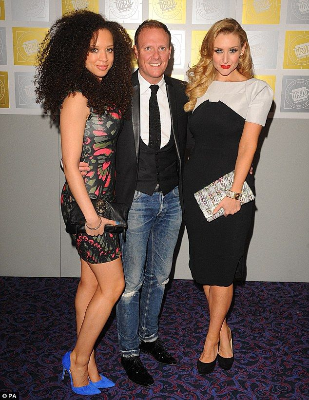 Three's company: Corrie stars Natalie Gumede, Antony Cotton and Catherine Tyldesley get closer