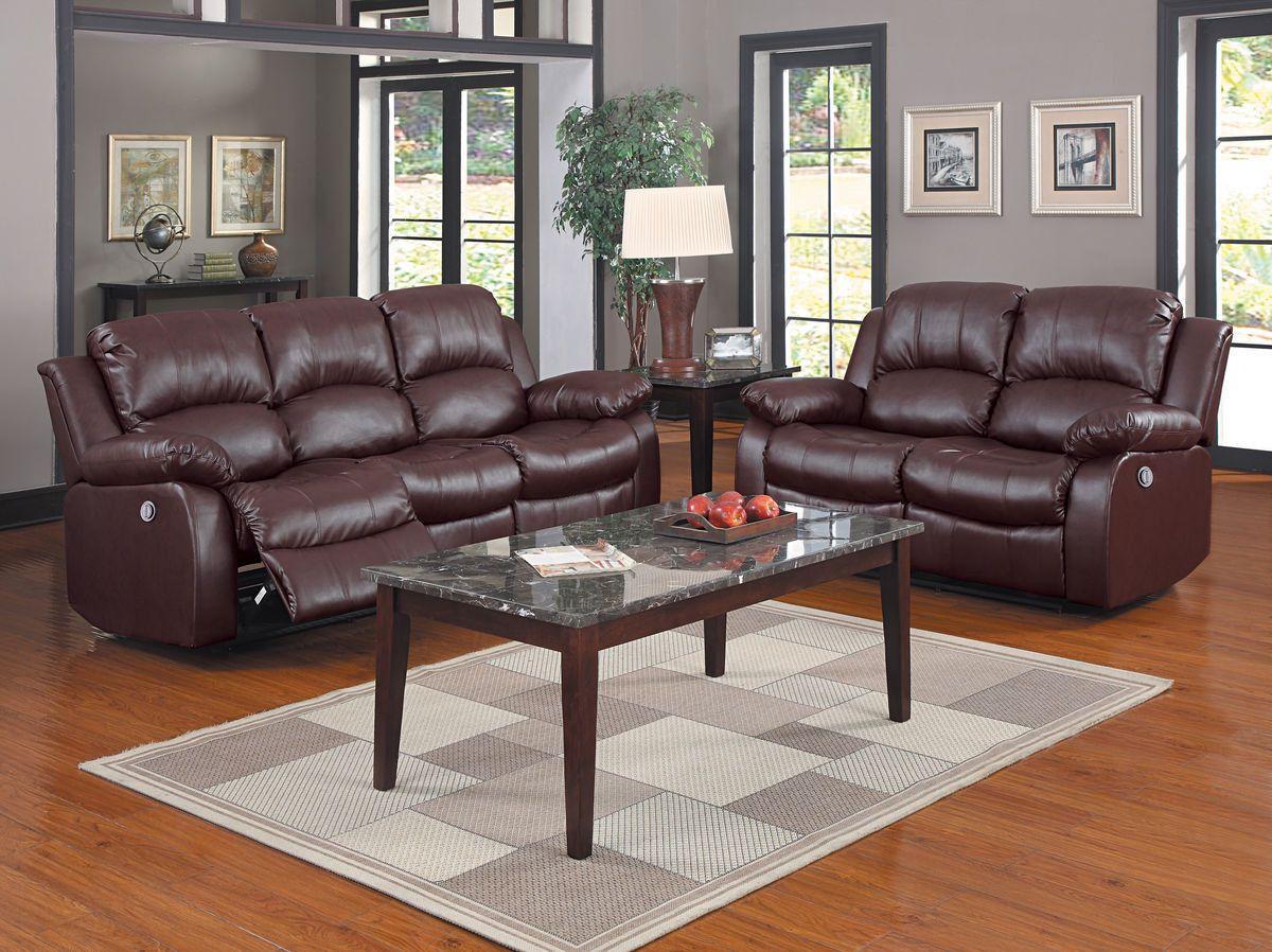 Cranley collection power double reclining sofa u loveseat set