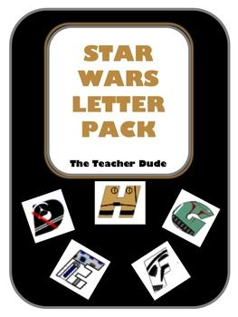 """Awesome Star Wars Letters! This letter pack is designed to print, cut out each letter and use for classroom bulletin boards, parties, name signage or decor, and much much more. There is a separate page for each letter that is approximately 4"""" inches tall."""
