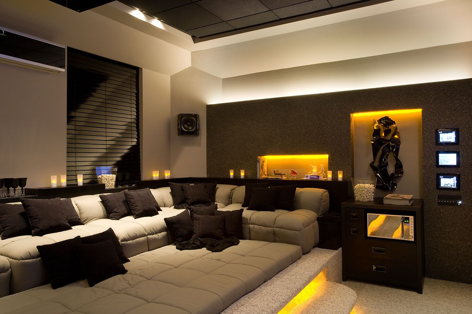 Wonderful Home Theater Decor Picture 731