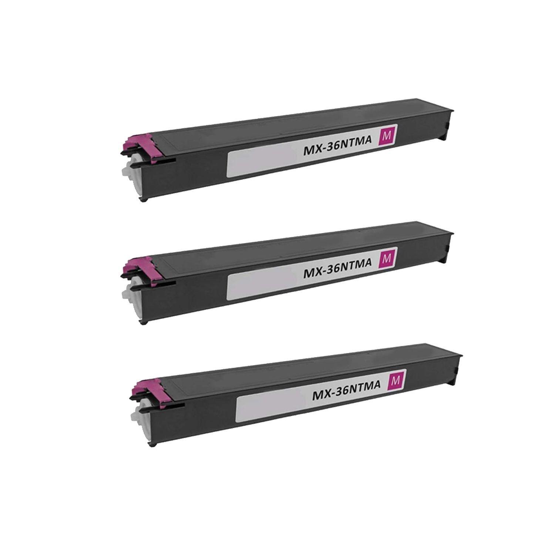 N 3PK Compatible MX-36NTMA Toner Cartridge for Sharp MX 2610 2610N 2615 2640N 3110N 3115N 3140N 3610N