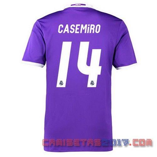 Camiseta CASEMiRO Real Madrid 2016 2017 segunda | Basketball ...