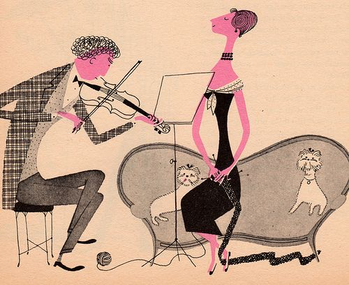 illustration by Jan Balet from the book What Makes an Orchestra? (via mallorymcinnis)