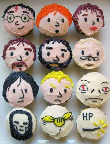harry potter character cupcakes