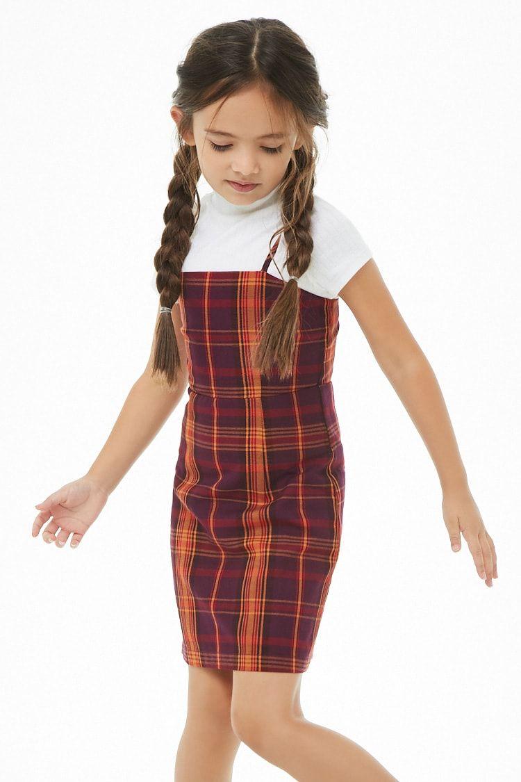 28a1356800a6 Girls Plaid Mini Cami Dress (Kids) in 2019 | Kids styling at F21 ...