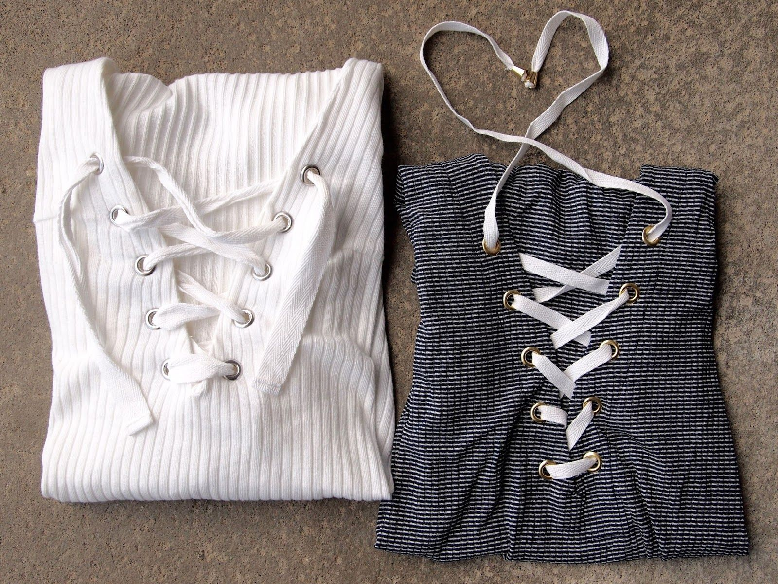 Ladybirds Nest Gina Tricot Elma Mija Top snøredetaljer lace