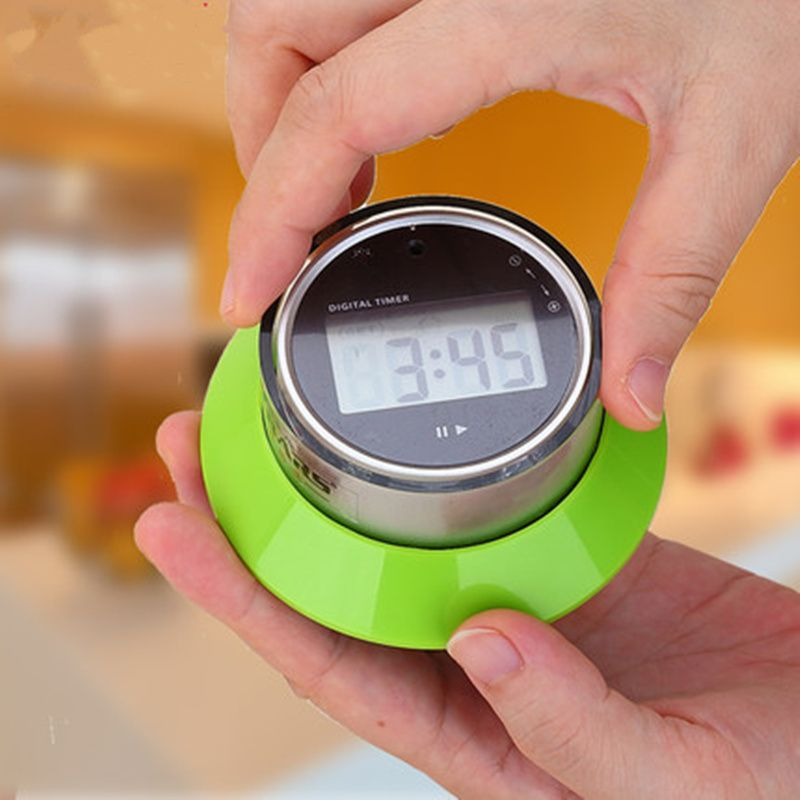 Portable Lcd Digital Timer Clock Magnet Magnetic 15s To 99 Minutes Countdown Alarm Clock Timer Kitchen Toolfree Shipping