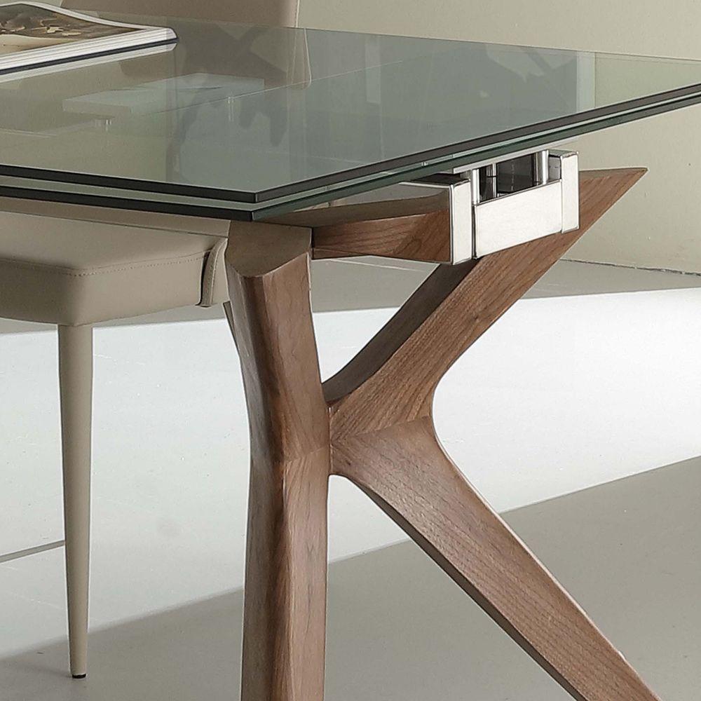 DesignEn Acier Extensible Inox De Kentucky Trempé Table Et Verre n80wOPk