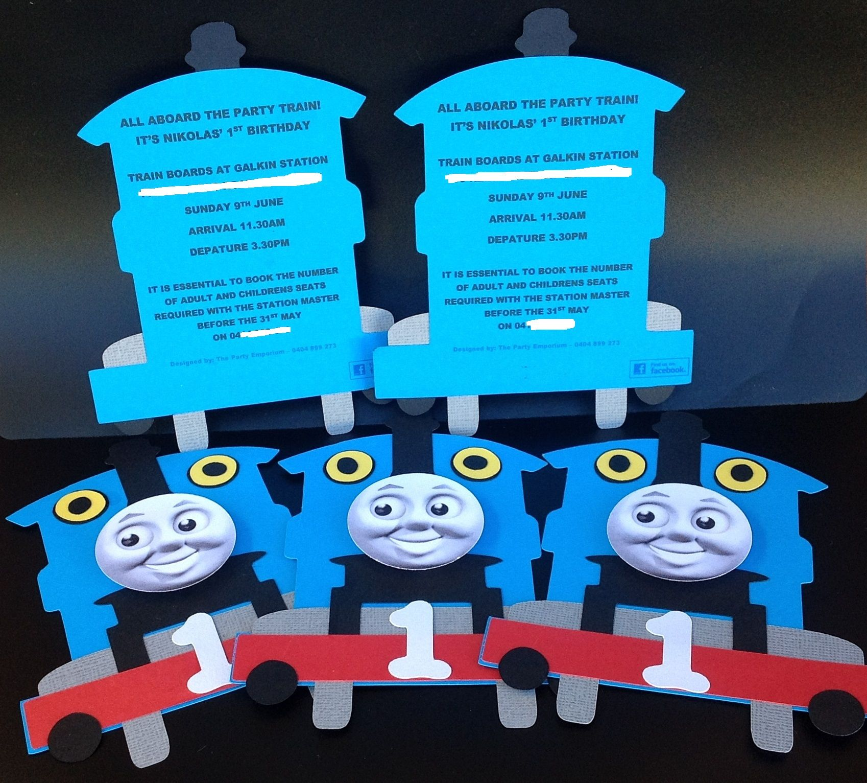 Thomas the Tank engine invite. To order find me on Facebook @ The ...