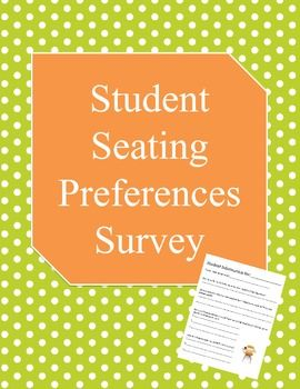 student seating preference survey teacher resources pinterest