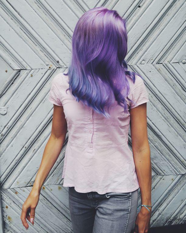 Lavender hair made by Susanna Poméll / @healthyhairfinland