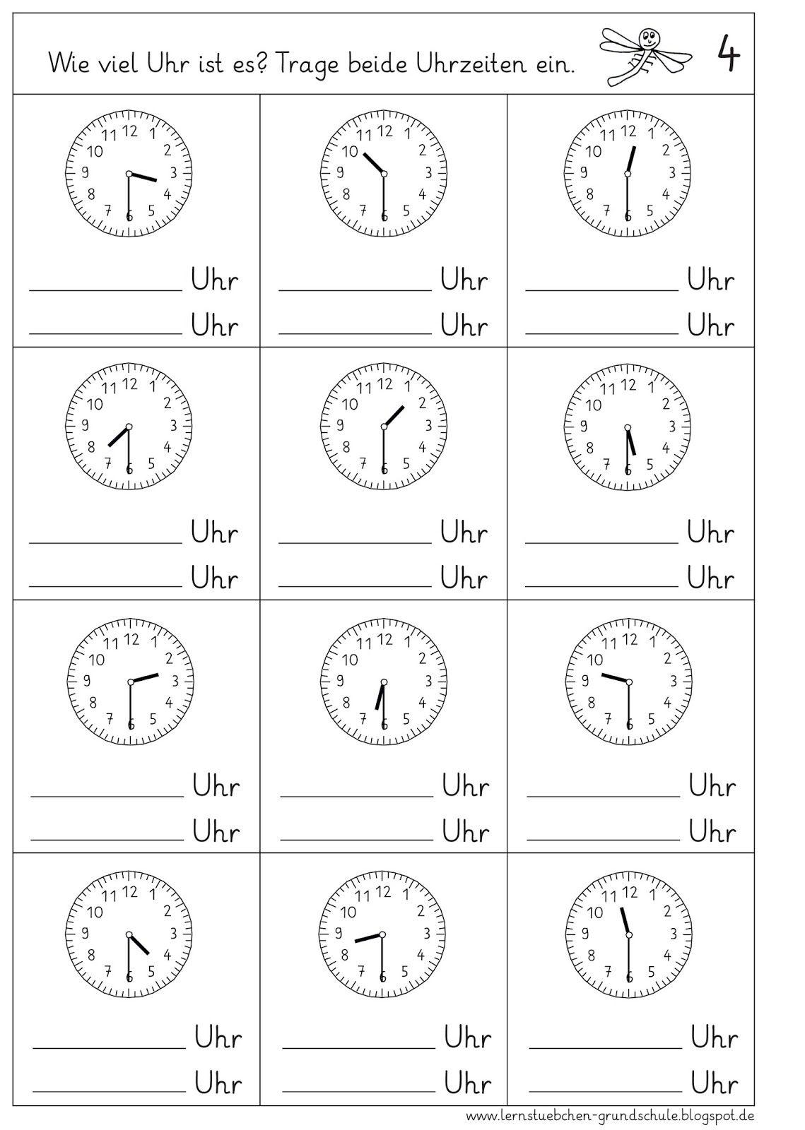 Uhrzeiten Ablesen