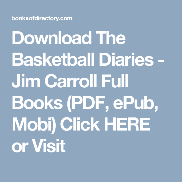 the basketball diaries pdf download