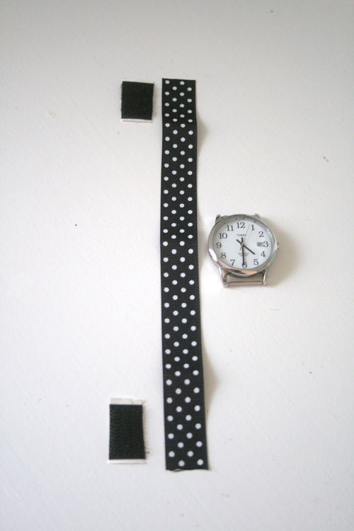 Use Velcro And Ribbon To Craft A Watchband Diy Watch Band