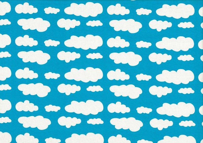 ♥ Jersey Wolken - türkis - Wolke ♥ von felinchens auf DaWanda.com