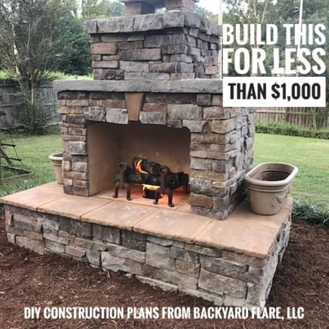 Diy For Less Backyard Fireplace Diy Outdoor Fireplace Outdoor Stone Fireplaces