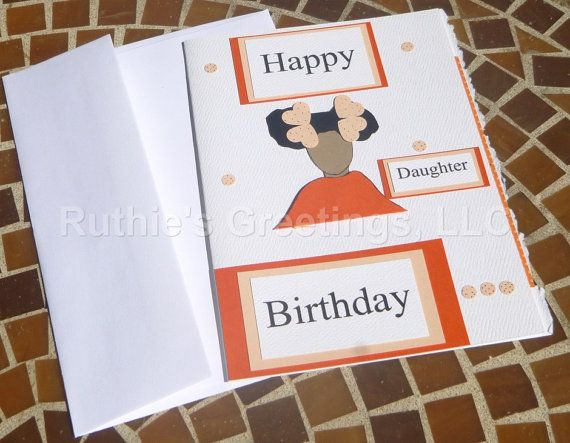African American Birthday Card Girl by RuthiesGreetings on Etsy