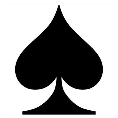 Spades Playing Card Symbol Poster Ace Of Spayds Pinterest