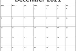Calendar December 2021 Template Free Di 2020
