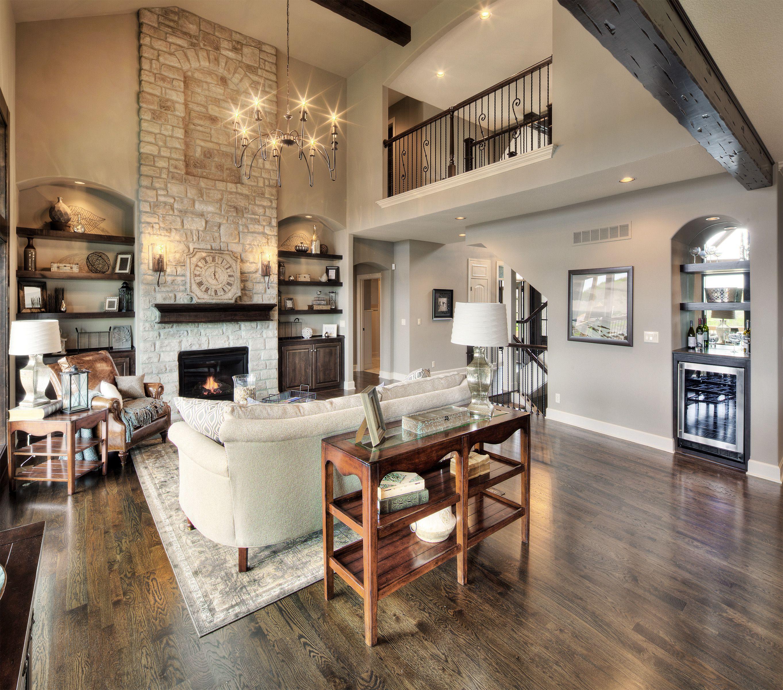 story fireplace balcony open floor plan ckimerhomes