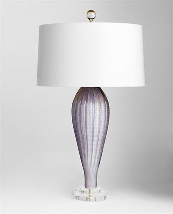 Lamp by Jan Showers - lavender with 22k gold inclusions, beautiful!